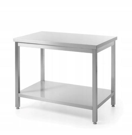 Stół centralny z półką 1600x700x850 skręcany - kod 810736