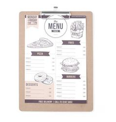 Podkładka pod kartę menu 240x330 - kod 664155