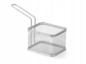 Koszyk do smażonych przekąsek prostokątny - głęboki 8x9,5(h) 6,5 - kod 426425