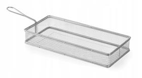 Koszyk do smażonych przekąsek prostokątny - 275x130(H)45 - kod 426456