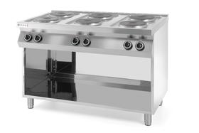 Kuchnia elektryczna 6-płytowa Kitchen Line na podstawie otwartej - kod 226230