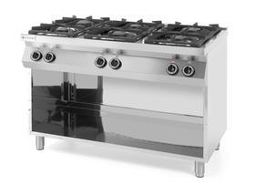 Hendi Kuchnia gazowa 6-palnikowa Kitchen Line na podstawie otwartej - kod 226094