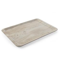 Taca do serwowania laminowana nadrukiem drewna 370x530 - kod 508930