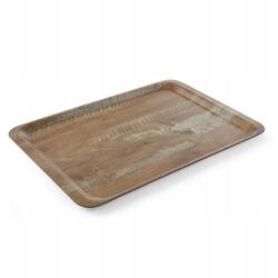 Taca do serwowania laminowana nadrukiem drewna 370x530 - kod 508947