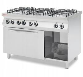 Revolution Kuchnia gazowa 6-palnikowa z konwekcyjnym piekarnikiem elektrycznym GN 1/1 - kod 226452