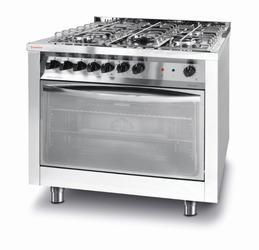 Revolution Kuchnia gazowa 5-palnikowa z konwekcyjnym piekarnikiem elektrycznym z grillem - kod 226254
