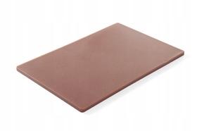 Deska do krojenia HACCP - 450 x 300 brązowa do gotowanego mięsa, wędlin - kod 825556