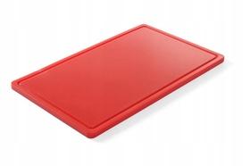 Deska do krojenia HACCP - GN 1/1 czerwona do surowego mięsa (gładka i z wycięciem) - kod 826010