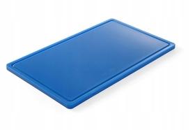 Deska do krojenia HACCP - GN 1/1 niebieska do ryb (gładka i z wycięciem) - kod 826027