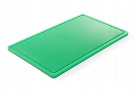 Deska do krojenia HACCP - GN 1/1 zielona do warzyw (gładka i z wycięciem) - kod 826034
