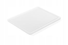 Deska do krojenia HACCP - GN 1/2 biała do nabiału (gładka i z wycięciem) - kod 826102