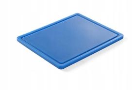 Deska do krojenia HACCP - GN 1/2 niebieska do ryb (gładka i z wycięciem) - kod 826126