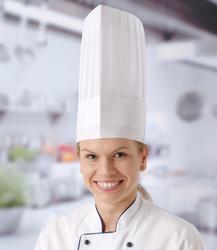 """Czapka kucharska """"LE GRAND CHEF"""" - zestaw 10 sztuk - kod 560105"""