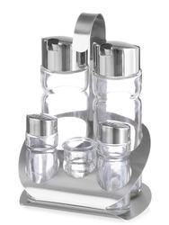 Zestaw do przypraw - 5 częściowy (sól, pieprz, ocet, oliwa i wykałaczki) - kod  465363