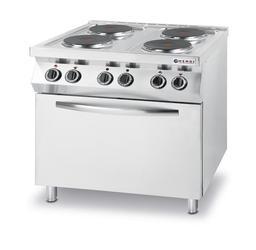 Kuchnia elektryczna 4 palnikowa z piekarnikiem elektrycznym- kod 225936