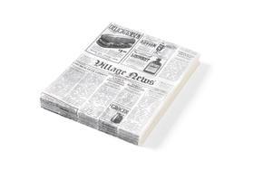 Papier pergaminowy nadruk gazety 250x350 kod 678107
