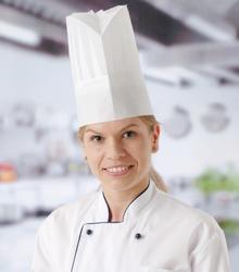 Czapka kucharska  - zestaw 10 sztuk - kod 560044
