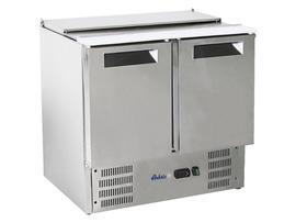 Stół chłodniczy sałatkowy 2 drzwiowy z pokrywą uchylną  - kod 236161