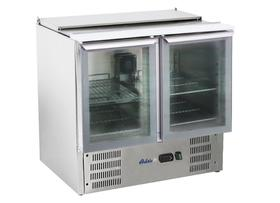 Stół chłodniczy sałatkowy 2- drzwiowy z pokrywą uchylną  - kod 236246