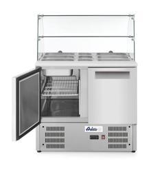 Stół chłodniczy sałatkowy 2- drzwiowy z nadstawą szklaną  - kod 236185
