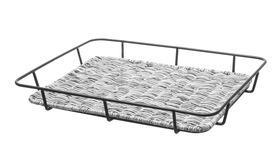 Kosz do pieczywa ze stalową ramą szary 400x300x(H)50- 426524