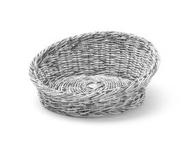 Kosz skośny okrągły szary ø310x(H)120 - kod 426562