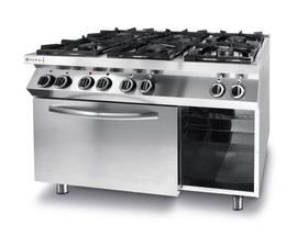 Hendi Kuchnia gazowa 6-palnikowa Kitchen Line z konwekcyjnym piekarnikem elektrycznym- kod 225899