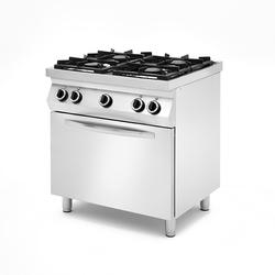 Kuchnia gazowa 2x 3,5kW + 2x 6kW z piekarnikiem elektrycznym - kod 227886