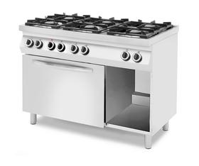 Kuchnia gazowa 3x 3,5kW + 3x 6kW z piekarnikiem elektrycznym - kod 227916