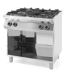 Hendi Kuchnia gazowa 4-palnikowa Kitchen Line na podstawie otwartej - kod 227589
