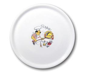 Talerz do pizzy Speciale porcelanowy dekorowany 330 mm - kod 774892