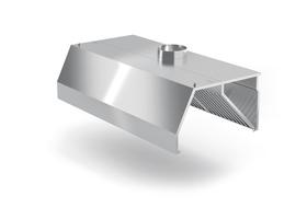 Okap przyścienny trapezowy 2500x1000x(H)450 kod POL-740-2500-1000