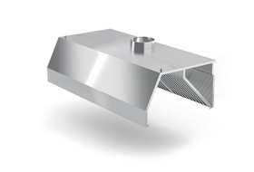 Okap przyścienny trapezowy 2100x800x(H)450 kod POL-740-2100-0800